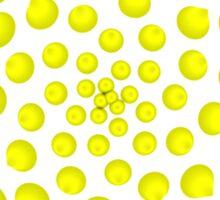 Golden Radius Star Burst Sticker