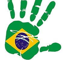 Flag of Brazil Handprint by rubina