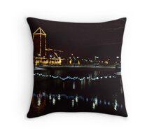 Lights across the river  Throw Pillow
