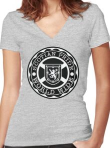 Nova Scotia Pride World Wide Women's Fitted V-Neck T-Shirt