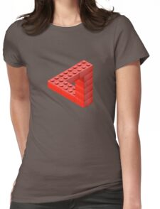 Escher Toy Bricks Womens Fitted T-Shirt