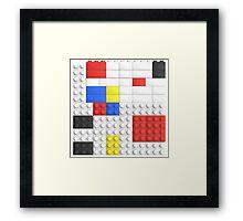 Mondrian Toy Bricks Framed Print