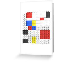 Mondrian Toy Bricks Greeting Card