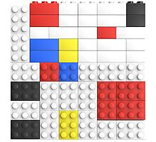 Mondrian Toy Bricks Photographic Print