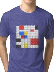 Mondrian Toy Bricks Tri-blend T-Shirt