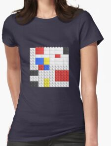 Mondrian Toy Bricks Womens Fitted T-Shirt