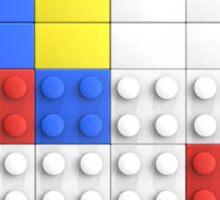 Mondrian Toy Bricks Sticker