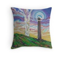 The Stack and Tower (In Progress) (Oils)- Throw Pillow