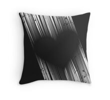 The Heart (black and white edition) Throw Pillow