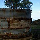 Rusty old rain water tank by janfoster
