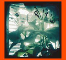 White lilies photograph Kids Clothes