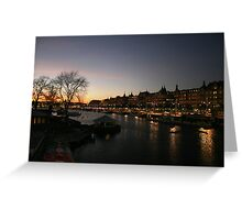 Stockholm by Night Greeting Card