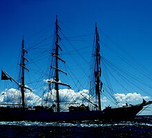 TALL SHIP, NEWPORT, RHODE ISLAND by Edward J. Laquale
