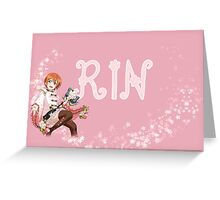 Rin Hoshizora Greeting Card