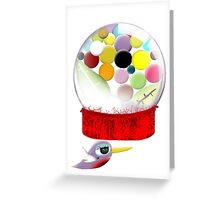 Too sweet candy bird old style bubble gum Greeting Card