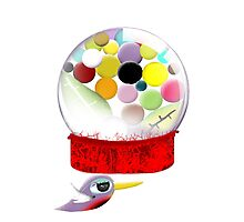 Too sweet candy bird old style bubble gum Photographic Print