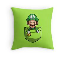 Pocket Luigi Super Mario T-Shirt Throw Pillow