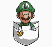Pocket Luigi Super Mario T-Shirt Kids Clothes