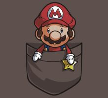 Pocket Mario Super Mario T-Shirt Kids Clothes