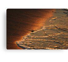 Sunset on the Sand Canvas Print