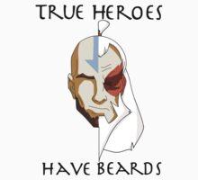 True Heros Have Beards Baby Tee