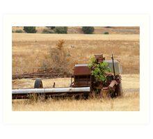 old farm equipment Art Print
