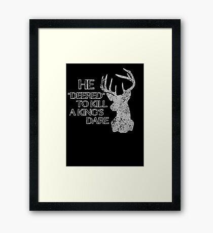 Dare Me Framed Print