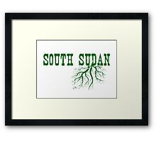 South Sudan Roots Framed Print