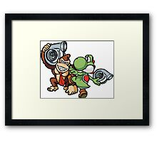 Boosted DK and Yoshi Framed Print