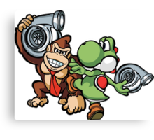 Boosted DK and Yoshi Canvas Print