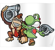 Boosted DK and Yoshi Poster