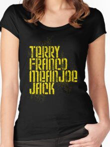 Terry Franco Mean Joe Jack / Black Women's Fitted Scoop T-Shirt