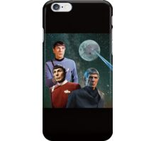Three Spock Moon iPhone Case/Skin