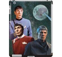 Three Spock Moon iPad Case/Skin