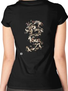 Chinese Tribal Dragon Women's Fitted Scoop T-Shirt