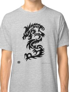 Black Only Chinese Tribal Dragon Classic T-Shirt