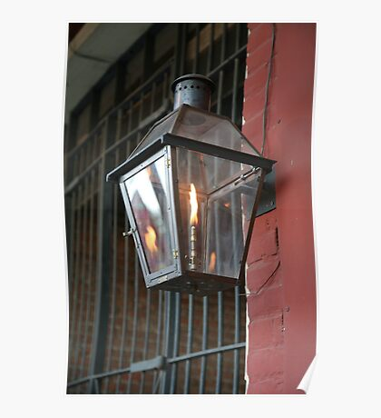 Lantern on Front Street in Natchitoches, Louisiana Poster