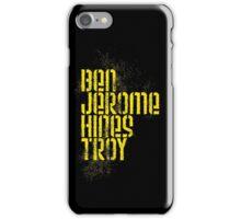 Ben Jerome Hines Troy / Black iPhone Case/Skin