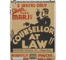 Counsellor at Law iPad Case/Skin