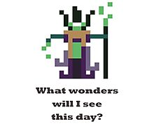 Rubick - What wonders will I see this day? Photographic Print