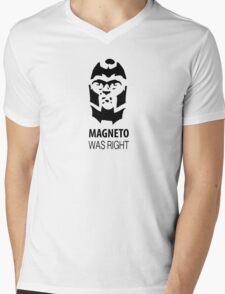 Magneto Was Right Mens V-Neck T-Shirt