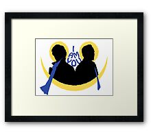 Sherlock and Moriarty - I am You Framed Print