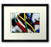 Cut the green wire.. or the yellow wire? Framed Print