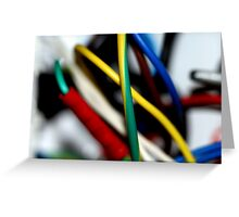 Cut the green wire.. or the yellow wire? Greeting Card