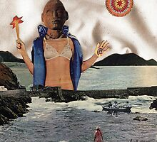 APHRODITE - surreal, fantasy original collage by LindaAppleArt