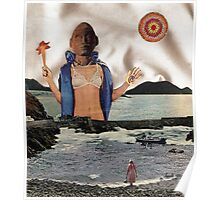 APHRODITE - surreal, fantasy original collage Poster