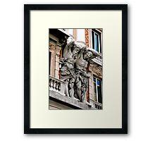 BUILDING GIANTS, GENOA, ITALY Framed Print