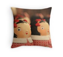 doll bow...keh Throw Pillow