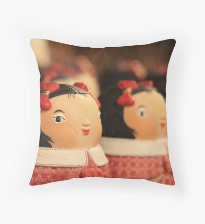 doll bow...keh Throw Pillow