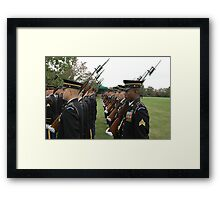 US Army 3d Infantry Regiment - Marches with Bayonet Fixed Framed Print